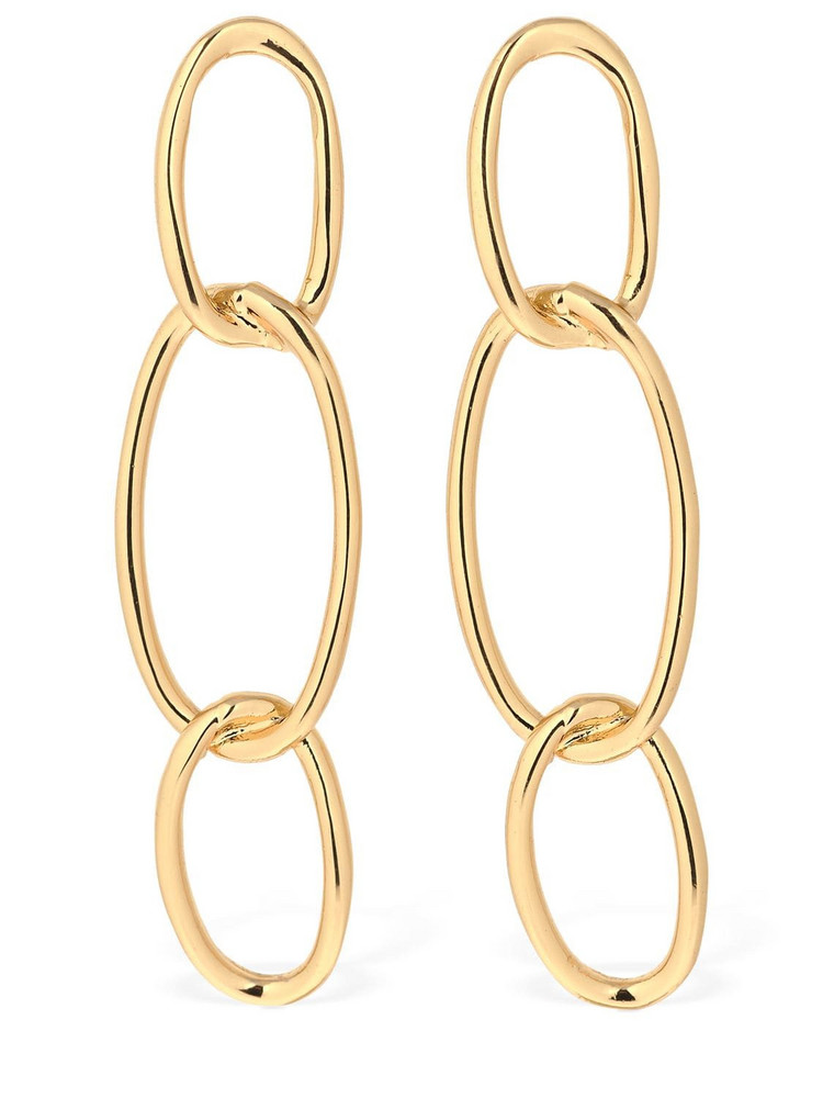 FEDERICA TOSI Bolt Chain Brass Earrings in gold