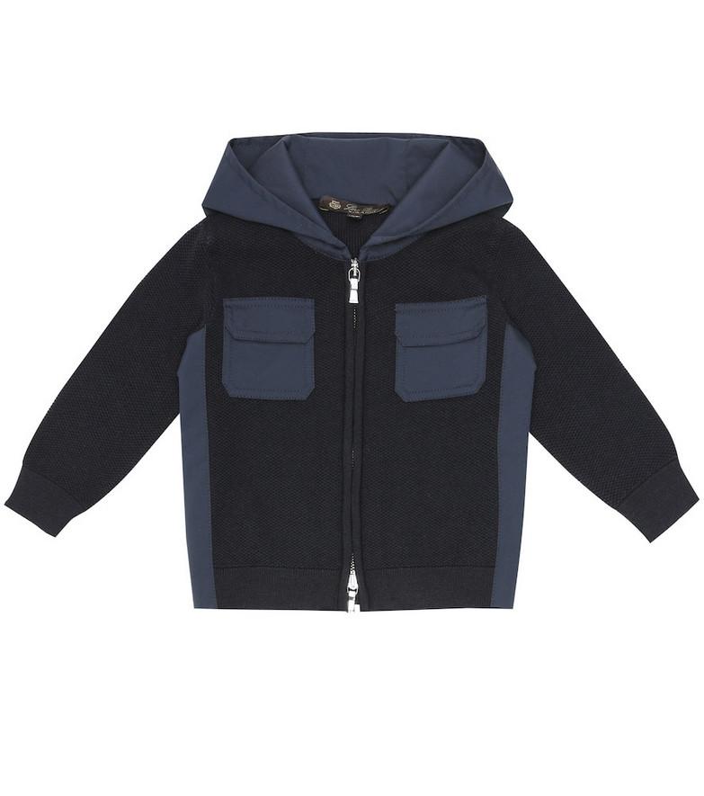 Loro Piana Kids Baby Sporty Bebe wool-piqué jacket in blue