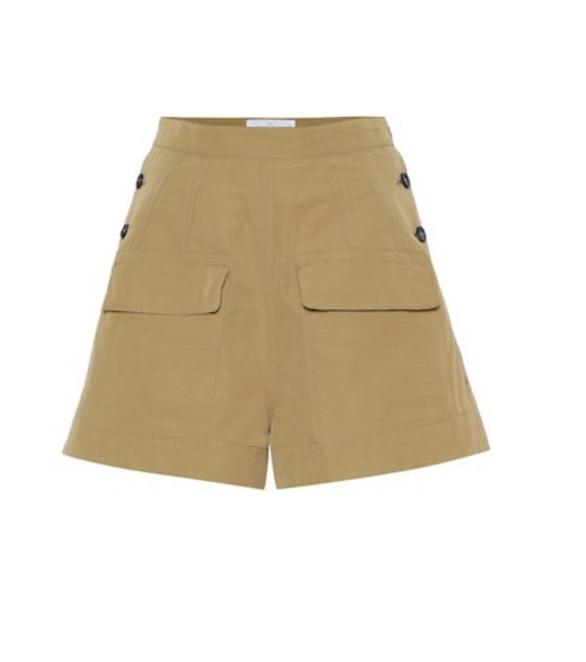 Golden Goose Deluxe Brand Lorena cotton-blend shorts in brown