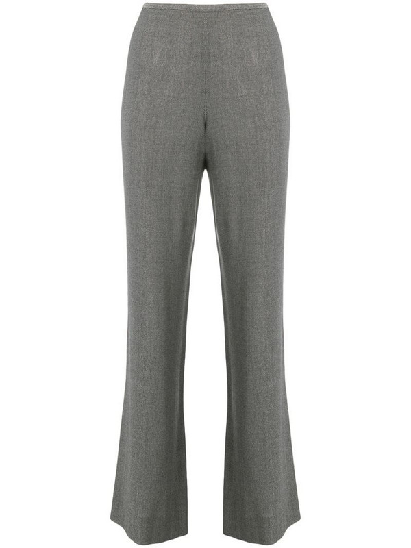 Giorgio Armani Pre-Owned 1990's bootcut cropped trousers in grey