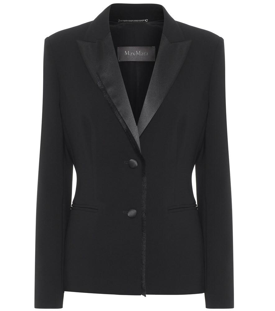 Max Mara Miglio cady blazer in black