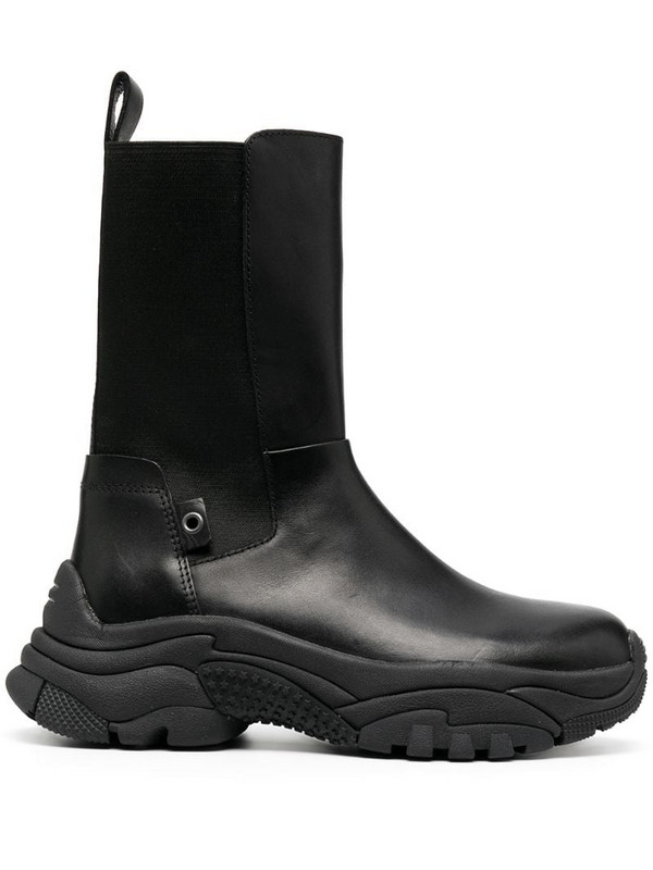 Ash Adapter leather boots in black