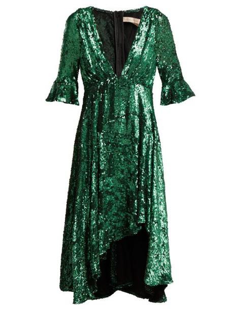 Maria Lucia Hohan - Arielle Sequinned Tulle Dress - Womens - Green