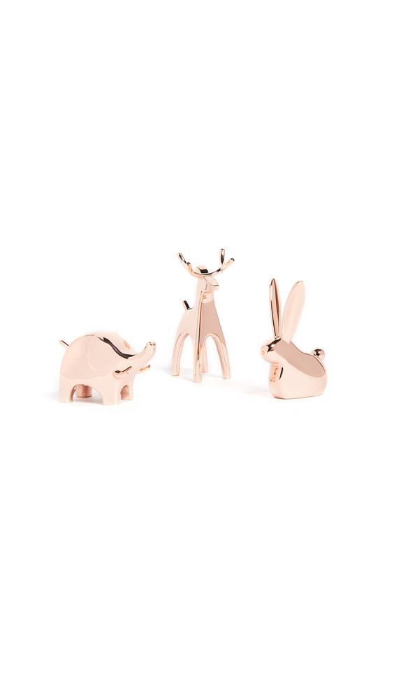 Shopbop Home Shopbop @Home Anigram Ring Holder Set of Three in copper