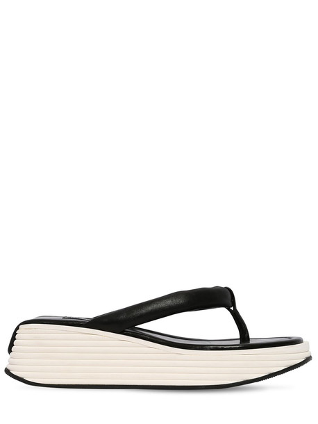 GIVENCHY 60mm Look Book Kyoto Leather Sandals in black