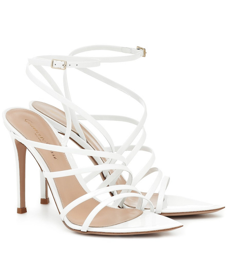 Gianvito Rossi Eclypse 105 leather sandals in yellow