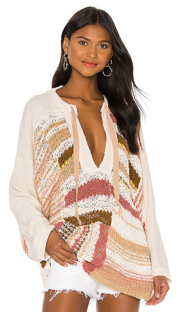 Free People Bayside Pullover in Cream