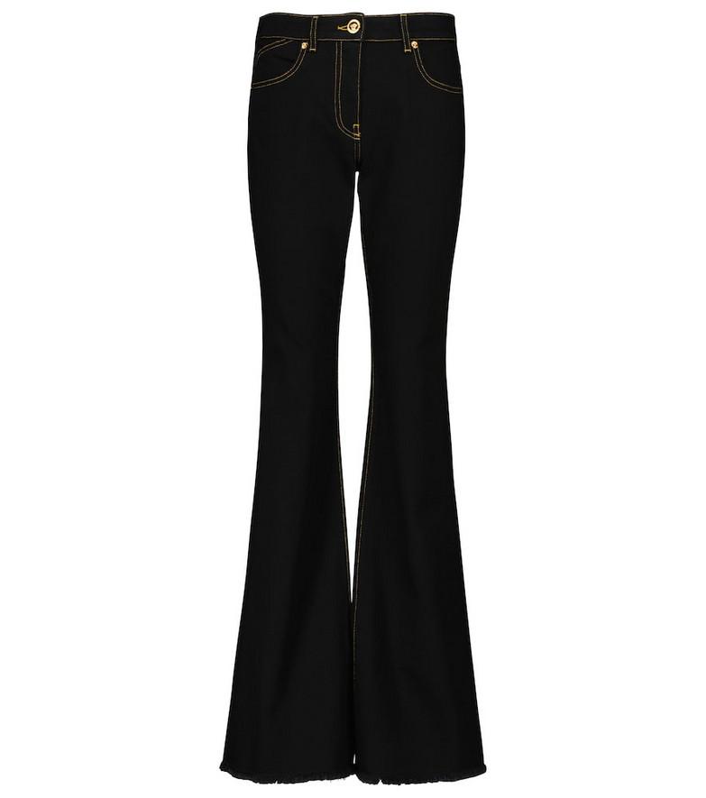 Versace Medusa bootcut jeans in black