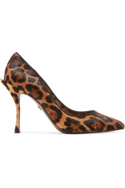 Dolce & Gabbana - Leopard-print Calf Hair Pumps - Leopard print