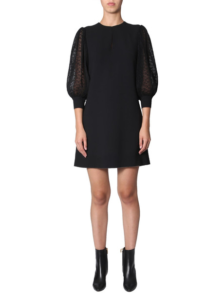 Givenchy Dress With Pleated Sleeves in nero