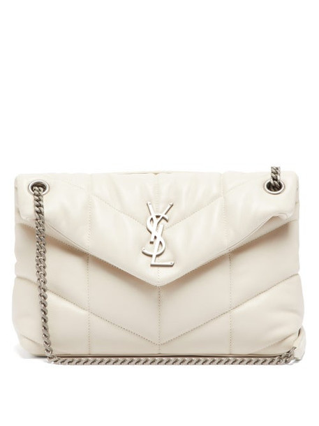 Saint Laurent - Loulou Puffer Small Leather Shoulder Bag - Womens - White