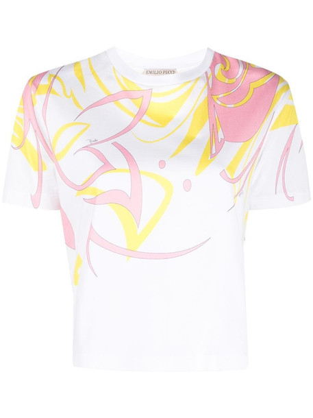Emilio Pucci Dinamica Placed-print T-shirt in white
