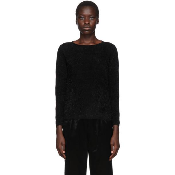 Comme des Garcons Black Chenille Jersey Sweatshirt