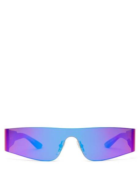 Balenciaga - Reflective Rimless Acetate Sunglasses - Womens - Purple