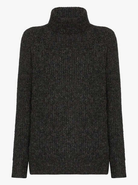 Nili Lotan douglas knitted sweater in grey
