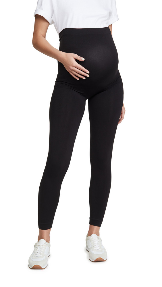 Ingrid & Isabel Seamless Belly Leggings in black
