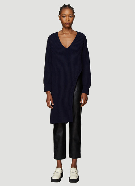 Stella McCartney Longline Asymmetric Sweater in Blue size IT - 42