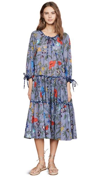 Warm Colonial Dress in blue
