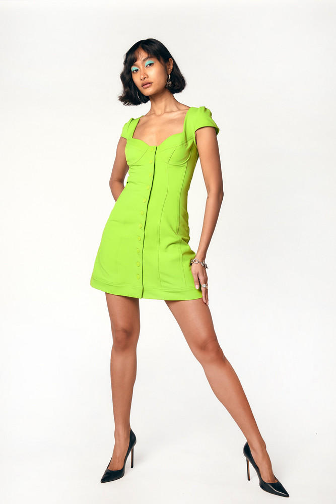 Miaou GIGI DRESS - ACID LIME