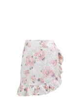 skirt,mini skirt,mini,jacquard,floral,pink