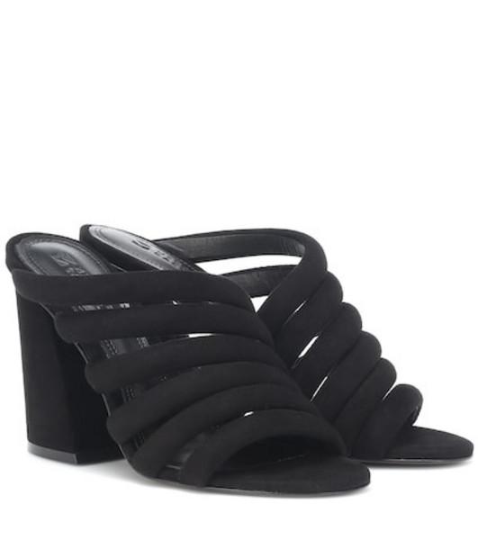 Mercedes Castillo Izzie High suede sandals in black