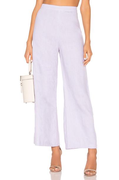 FAITHFULL THE BRAND Scelsi Pants in lavender