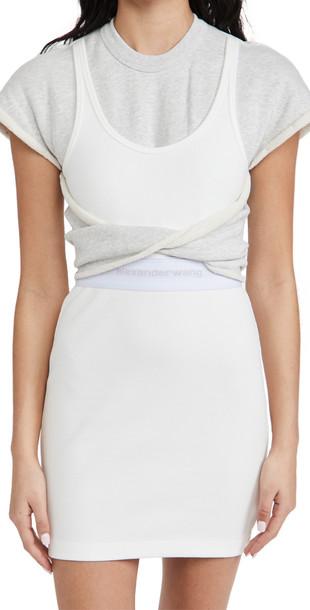 alexanderwang.t Hybrid Tank Sweatshirt Dress in natural / grey