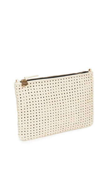 Clare V. Clare V. Flat Clutch with Tabs in cream