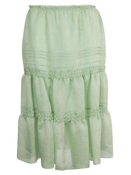 See by Chloé See By Chloé Ruched Organza Skirt in green