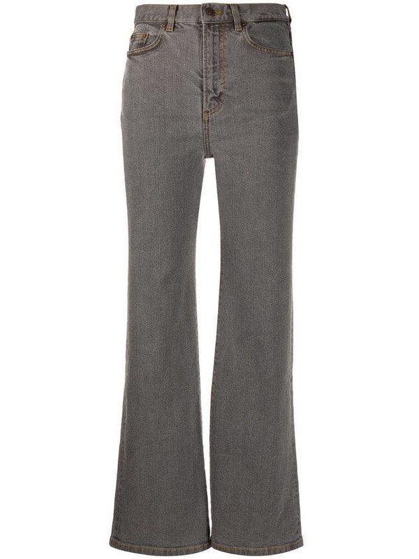 Jeanerica cropped wide-leg jeans in grey