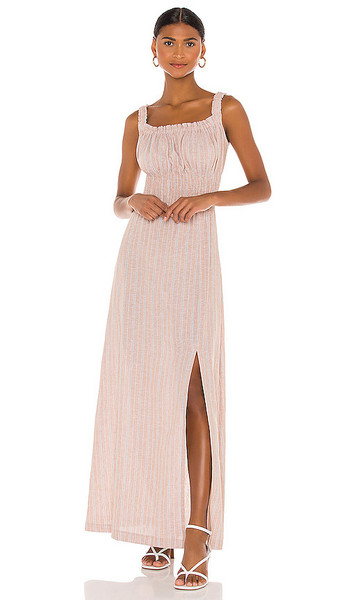 THE JETSET DIARIES Maya Midi Dress in Tan in khaki