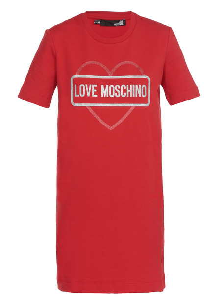 Love Moschino Cotton Dress in red