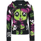 jacket,killer panda,zombie,panda,emo,scene,goth,kawaii,cute