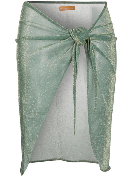 Antonella Rizza knotted glittered skirt in green
