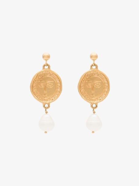 Holly Ryan Gold-plated Picasso face earrings