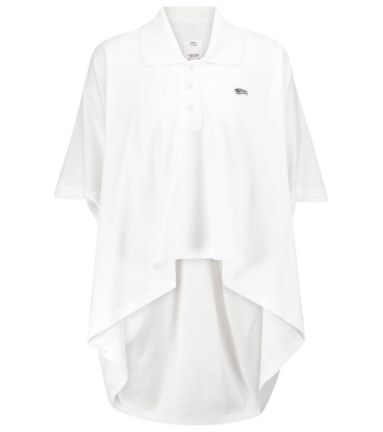 VISVIM Cotton piqué polo shirt in white
