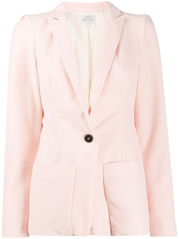 Forte Forte single-breasted tailored blazer in pink