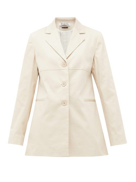 Àcheval Pampa Àcheval Pampa - Borges Stretch-cotton Blazer - Womens - Beige