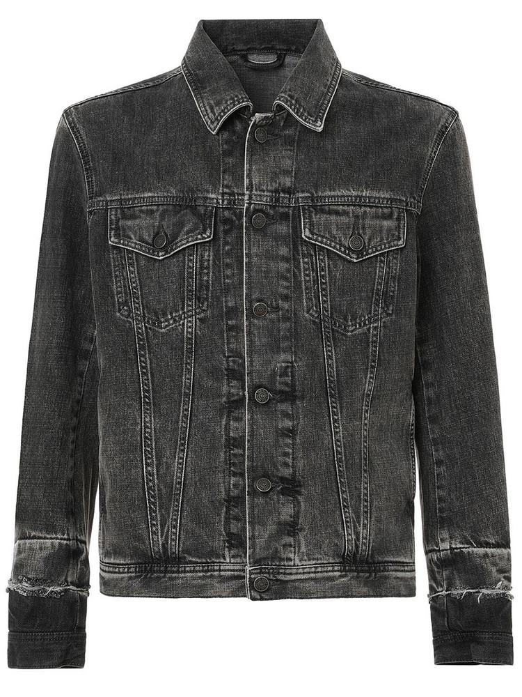 DIESEL Cotton Denim Jacket in grey