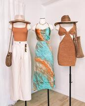 pants,hat,top,dress