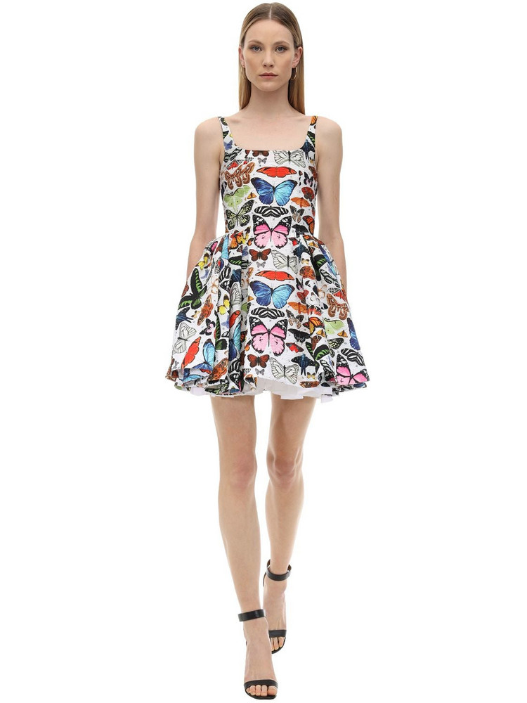 MARY KATRANTZOU Floral Print Jacquard Mini Dress
