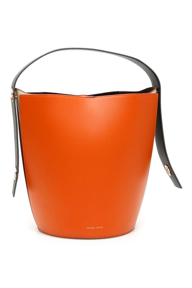DANSE LENTE Mini Lorna Bucket Bag in orange