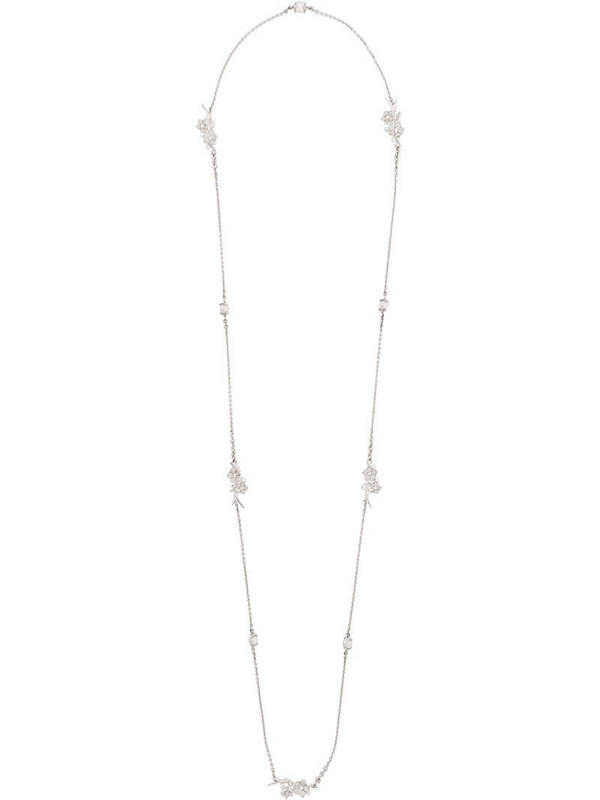 Shaun Leane Cherry Blossom pearl and diamond necklace in silver