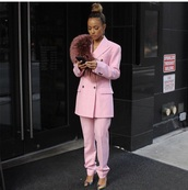jacket,karrueche,pink,pants