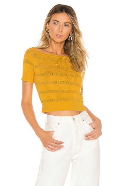 Line & Dot Soleil Sweater in mustard