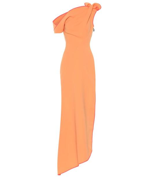 Maticevski Slinger one-shoulder gown in orange