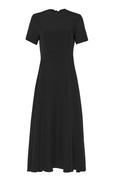 macgraw Bow Tie Silk Faille Dress in black