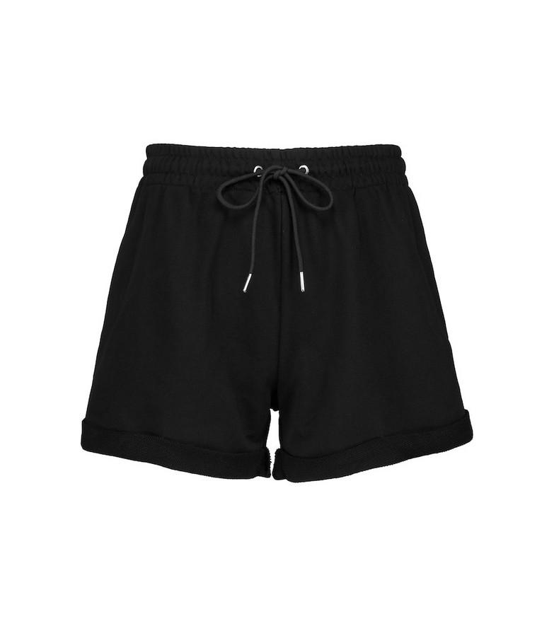 Adam Selman Sport Cotton-blend shorts in black