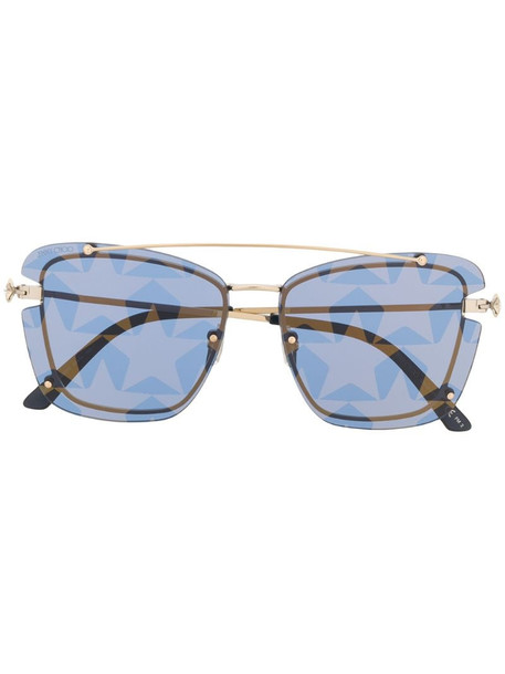 Jimmy Choo Eyewear Ambra star-print sunglasses in blue