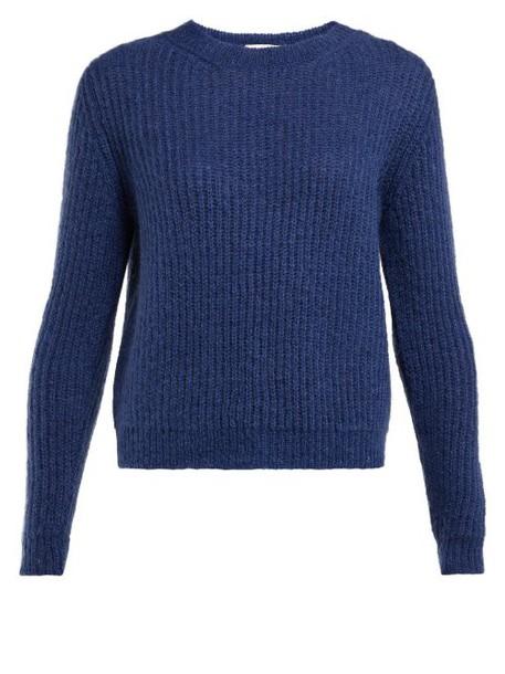 Masscob - Eden Ribbed Mohair Blend Sweater - Womens - Navy